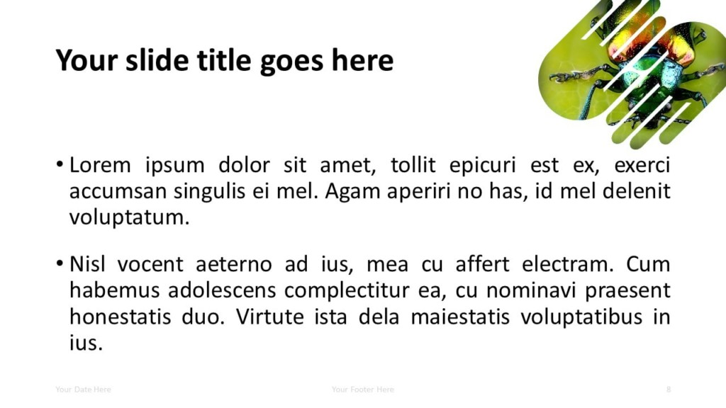 Free PowerPoint Template with 2 Hands - 1 Shape - Title and Content Slide