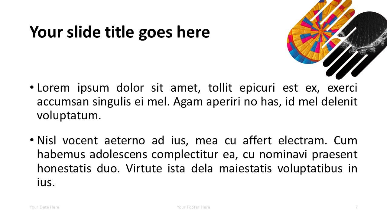 Free PowerPoint Template with 2 Hands - Title and Content Slide
