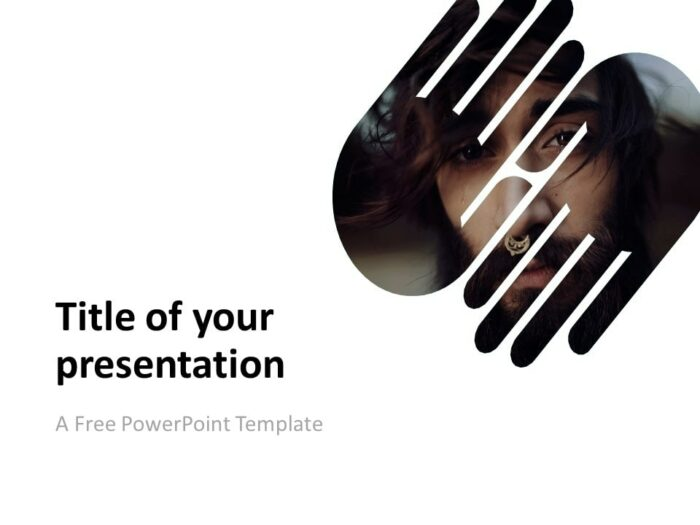 PowerPoint Template with 2 Hands (1 Shape)