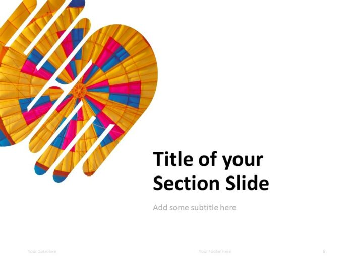 PowerPoint Template with 2 Hands (1 Shape) - Section Slide