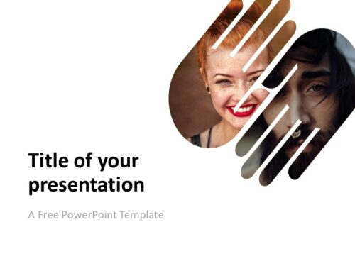 PowerPoint Template with 2 Hands