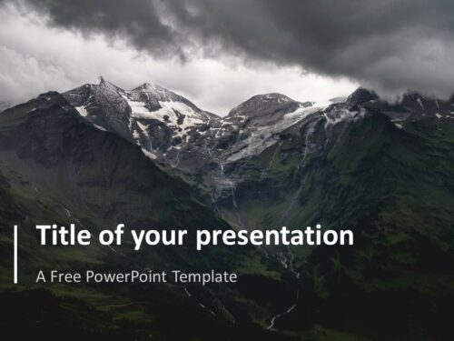 Simple PowerPoint Template with Full Background Image
