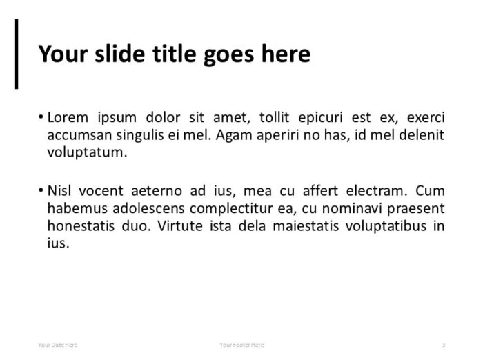 Simple PowerPoint Template with Full Background Image - Title and Text Slide