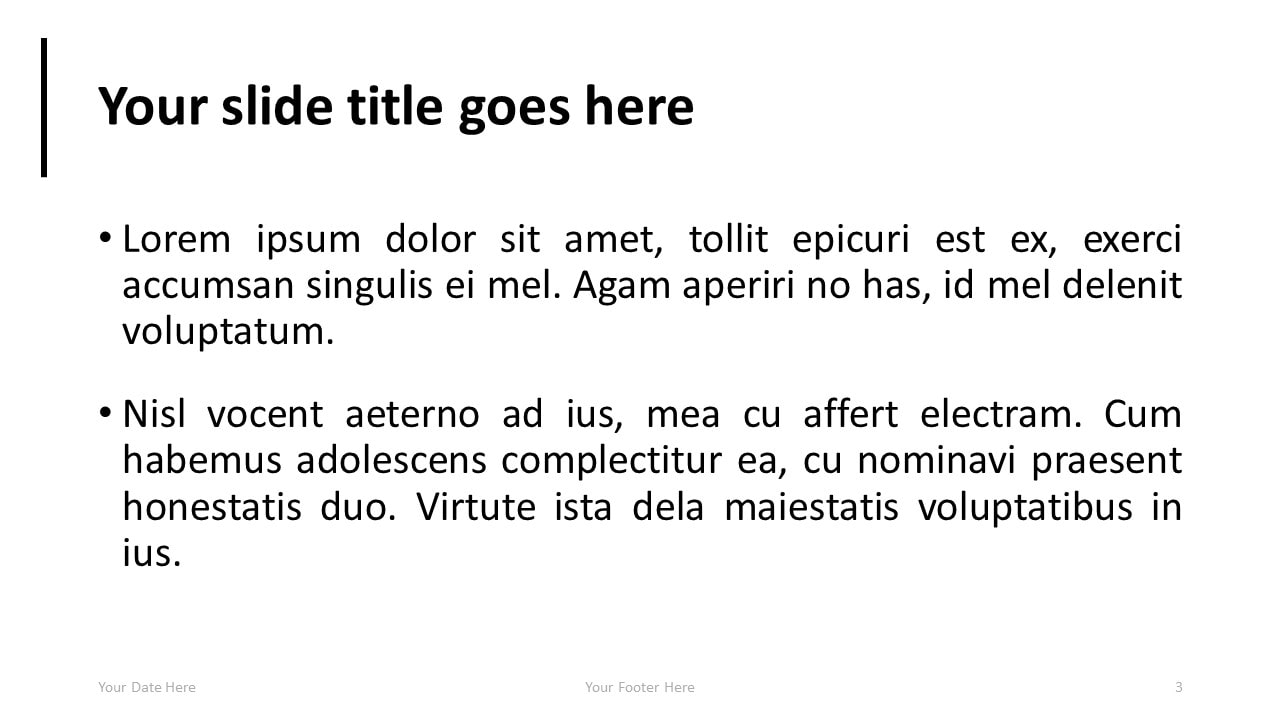 Simple PowerPoint Template with Full Picture Background - Title and Content Slide