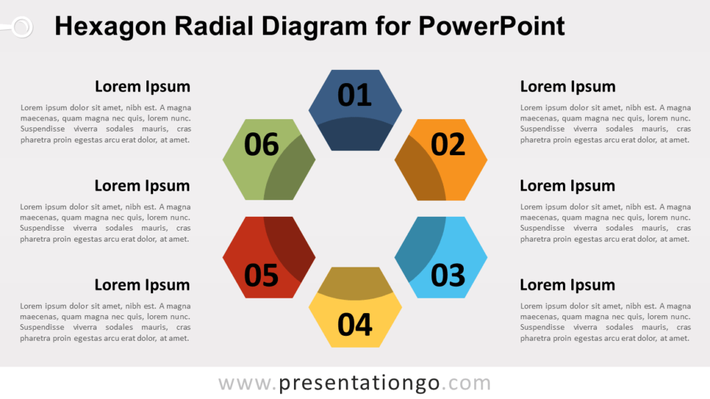 Free Hexagon Radial for PowerPoint