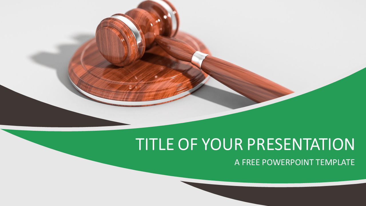 Justice and Law Free PowerPoint Template
