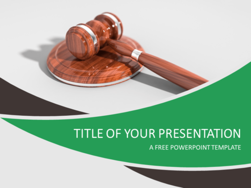 Justice and Law PowerPoint Template