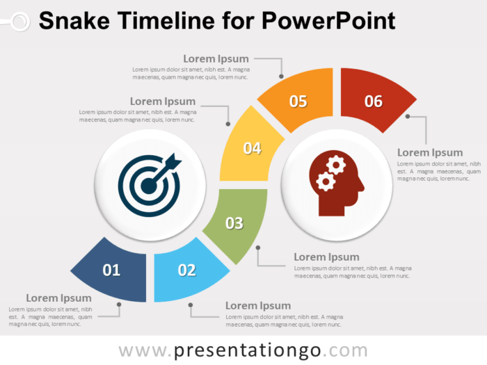 Free Snake Timeline for PowerPoint