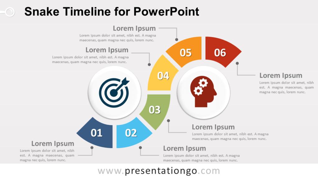 Snake Timeline - Free PowerPoint Diagram