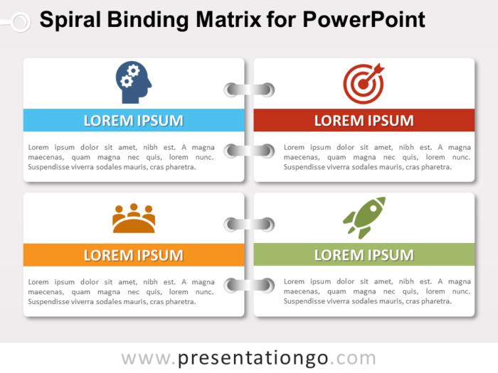 Free Spiral Binding Matrix for PowerPoint