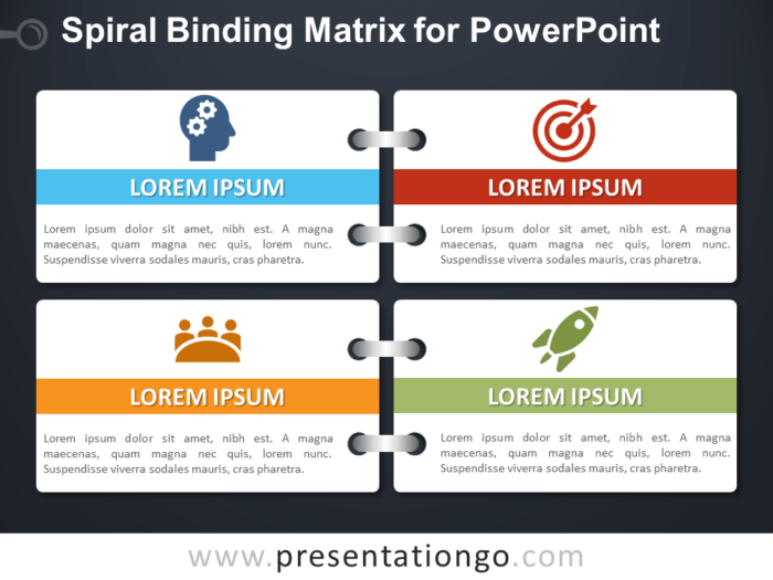 Spiral Binding Matrix for PowerPoint - Dark Background