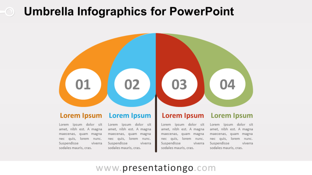 Free Umbrella Infographics Diagram for PowerPoint