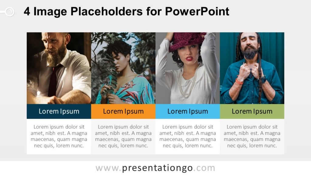 4 Image Placeholders - PowerPoint Template with Photos