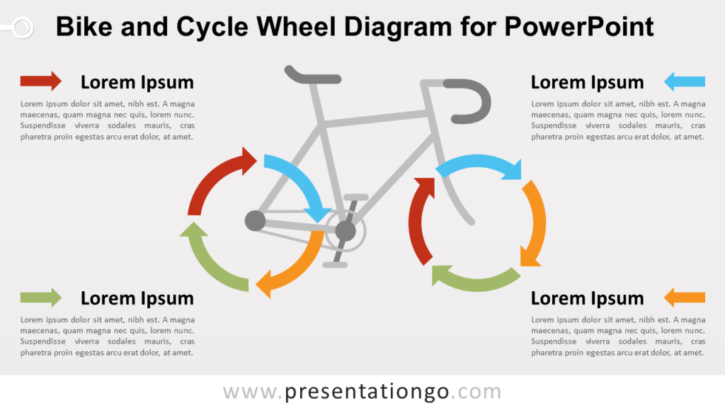 Free Bike and Cycle Wheel for PowerPoint