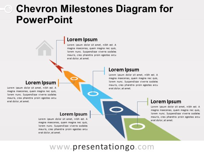 Free Chevron Milestones Diagram for PowerPoint