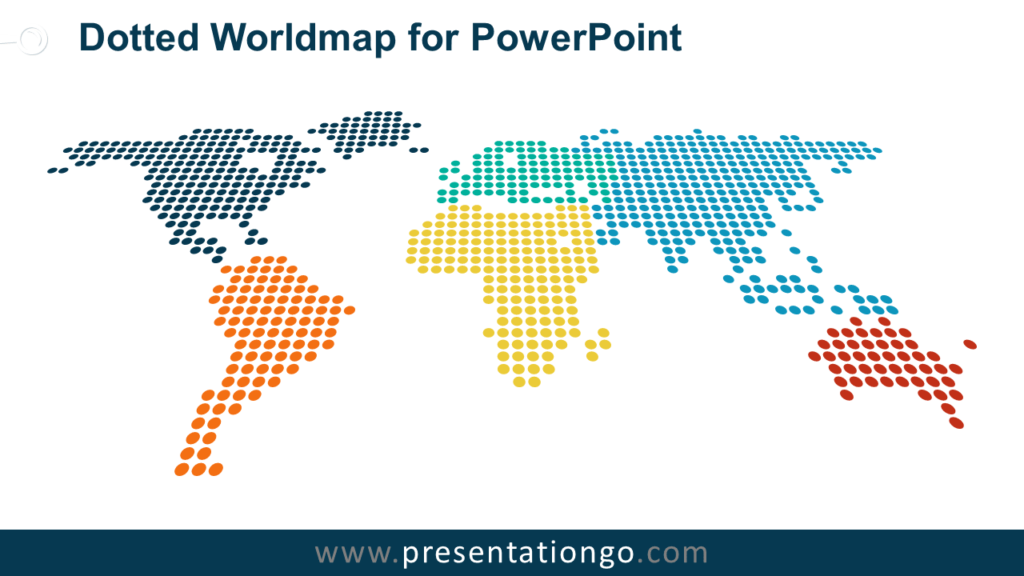Free Dotted World Map PowerPoint
