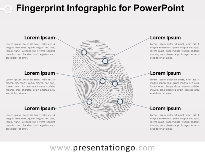 Free Fingerprint Infographic for PowerPoint