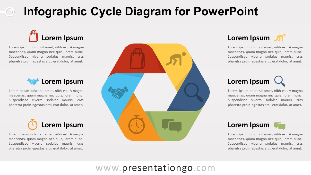 Free Infographic Cycle for PowerPoint
