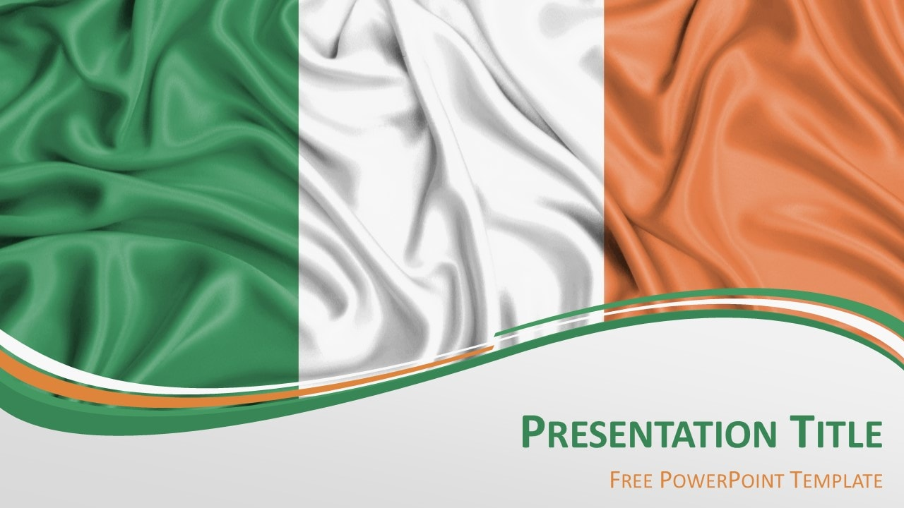 Ireland Flag - Free PowerPoint Template