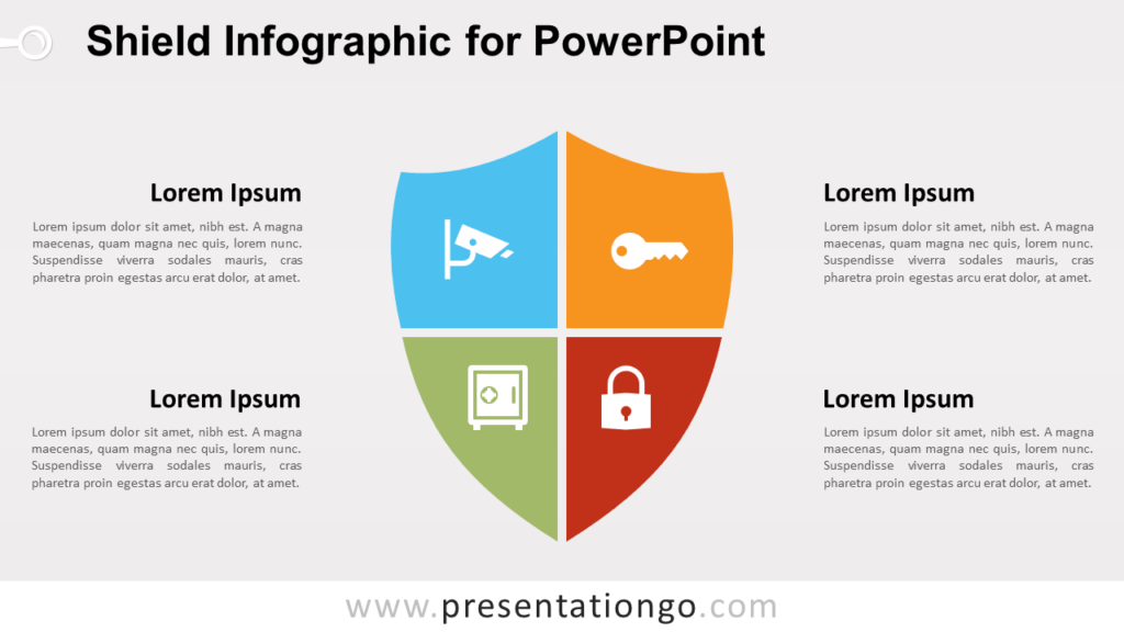Free Matrix Shield Infographic for PowerPoint
