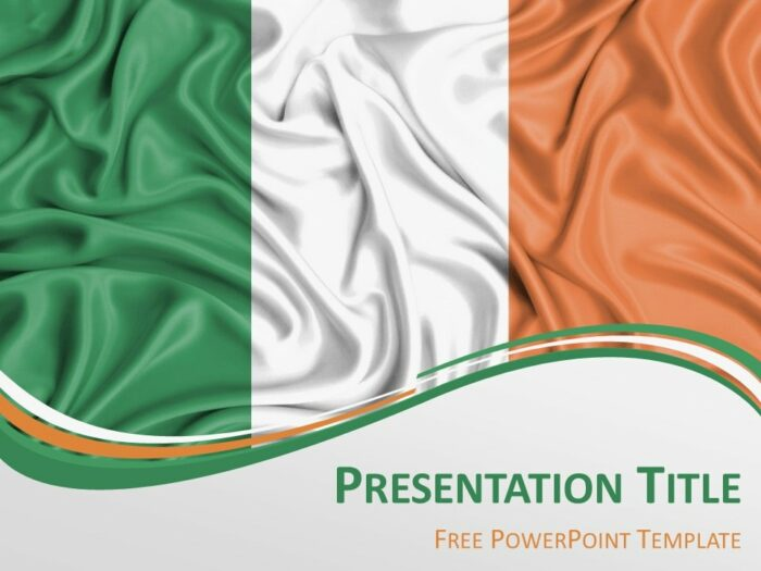 Free Flag of Ireland PowerPoint Template