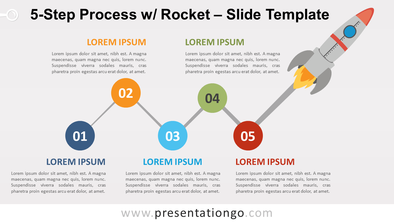 Free 5-Step Process with Rocket Slide Template