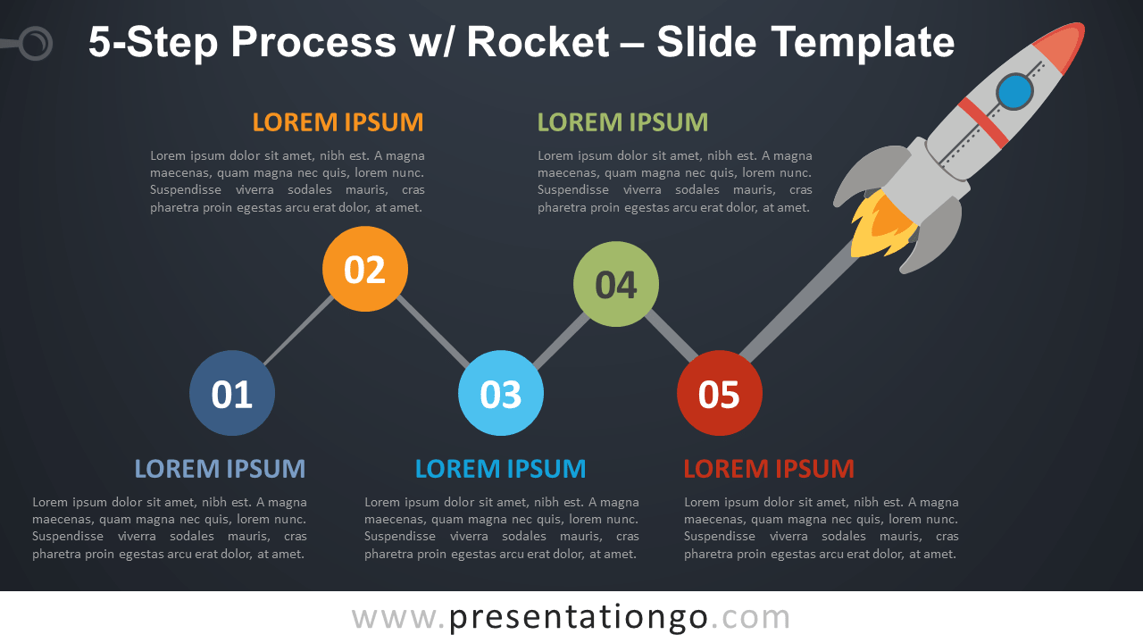 Free 5-Step Process with Rocket Template