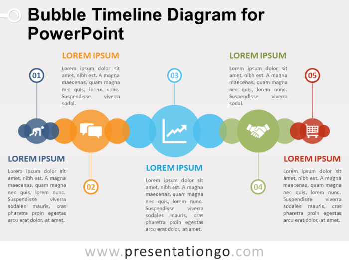 Free Bubble Timeline Diagram for PowerPoint