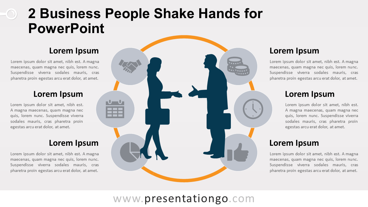 Free Business People Hand Shake for PowerPoint