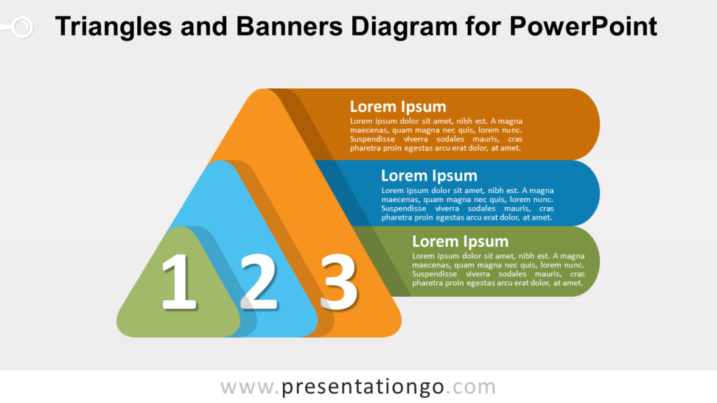 Free Layered Triangles and Banners for PowerPoint