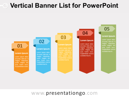Free Vertical Banner List for PowerPoint