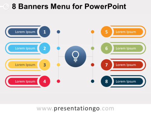 Free 8 Banners Menu for PowerPoint