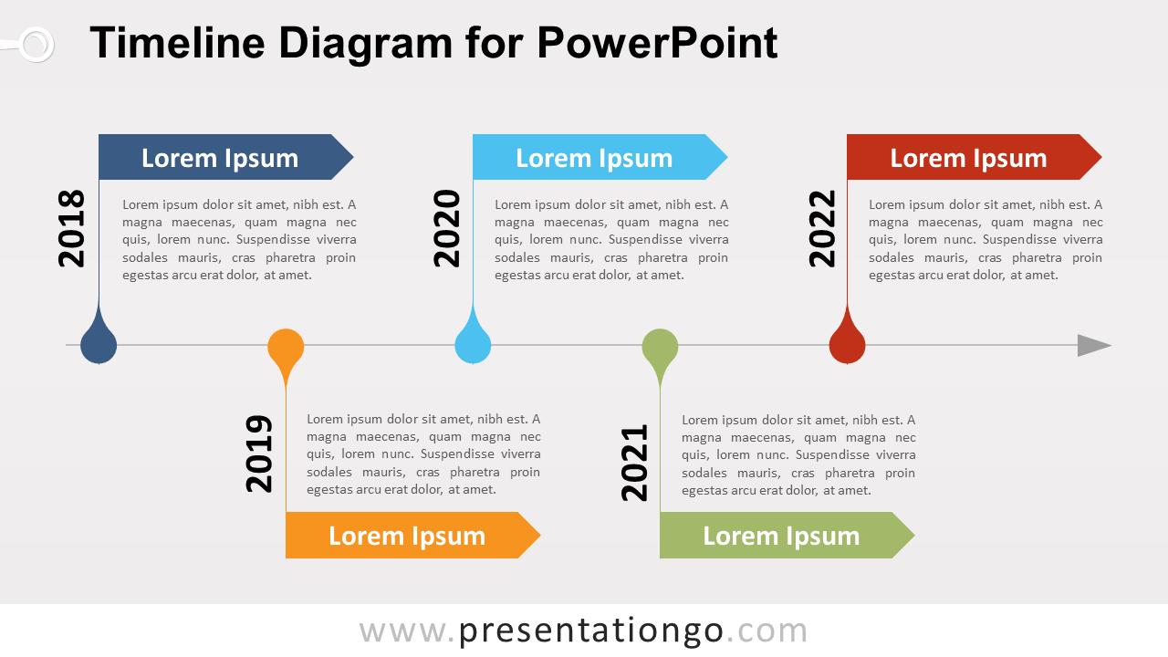 Free Timeline PowerPoint Diagram