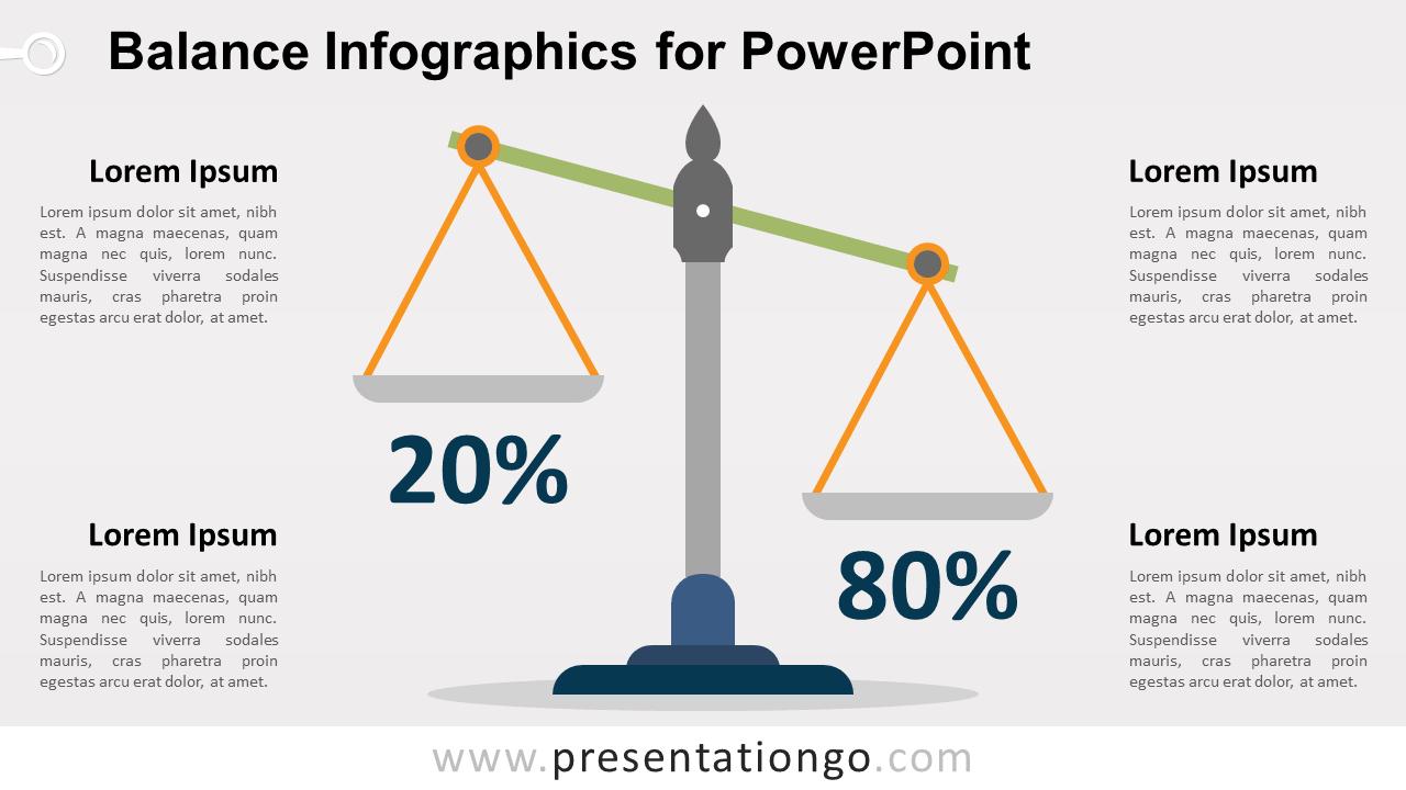 Free Balance PowerPoint Infographics - Option 1