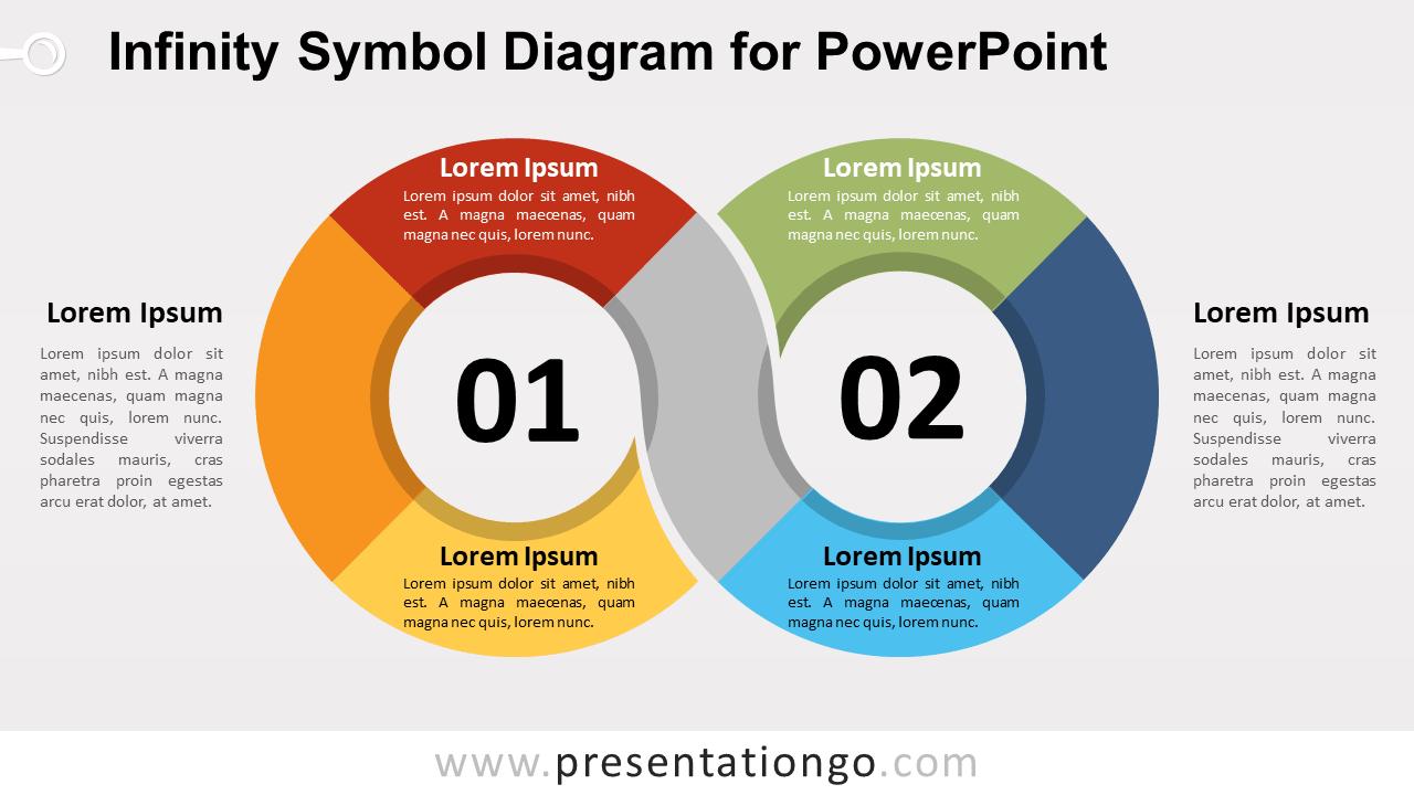 Free Infinity Symbol PowerPoint Diagram