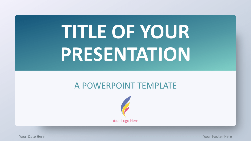 Free Aqua Splash Gradient PowerPoint Template