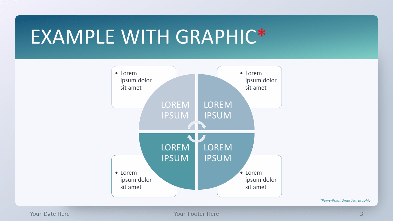 Free Aqua Splash Gradient PowerPoint Template - SmartArt Graphic