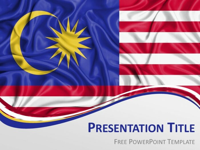 Free Flag Malaysia PowerPoint Template
