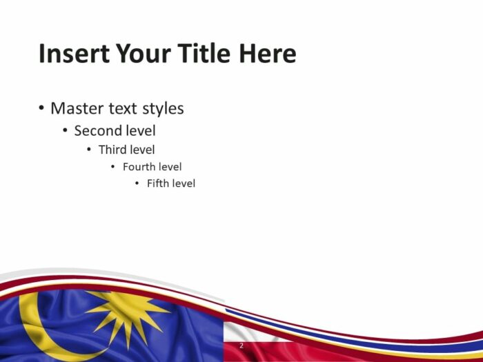 Free Flag Malaysia PowerPoint Template - Slide 2