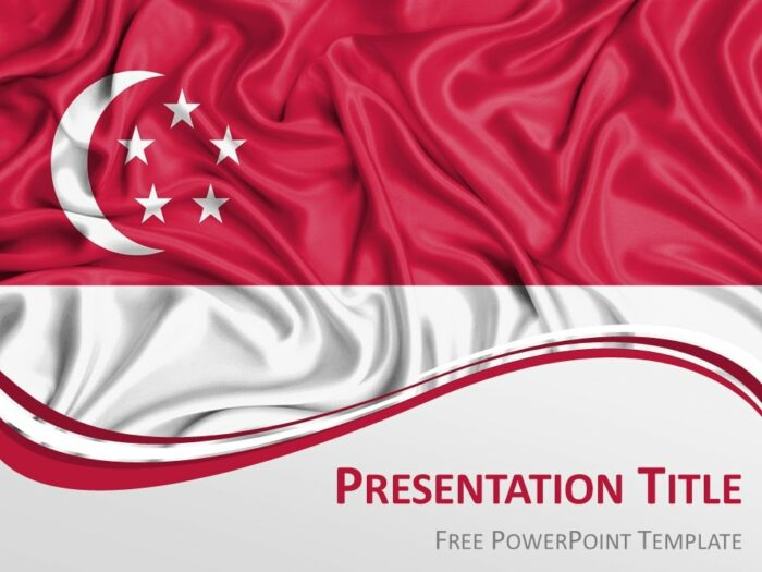 Free Flag Singapore PowerPoint Template