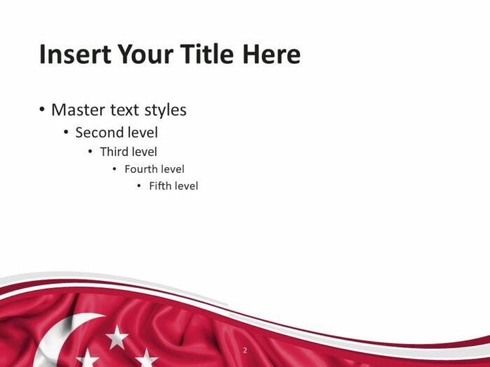 Free Flag Singapore PowerPoint Template - Slide 2
