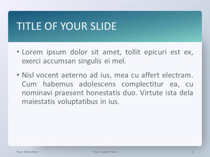 Free Gradient Aqua Splash PowerPoint Template - Title and Content