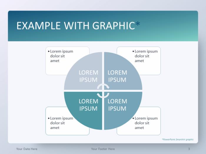 Free Gradient Aqua Splash PowerPoint Template - SmartArt Graphic
