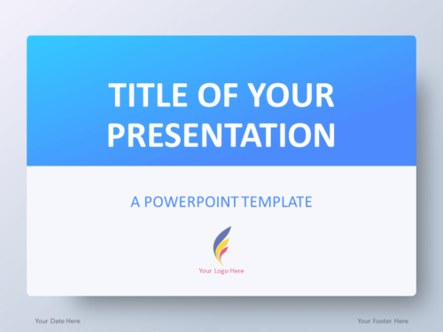 Free Gradient Blue PowerPoint Template