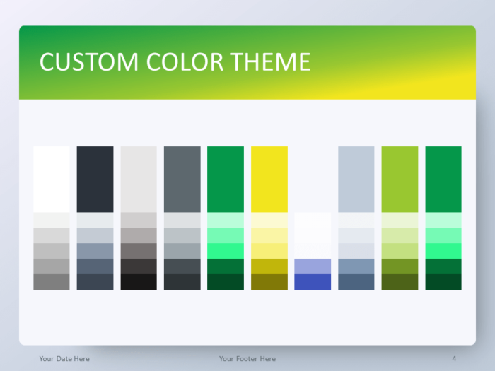 Gradient Green PowerPoint Template - Custom Color Theme