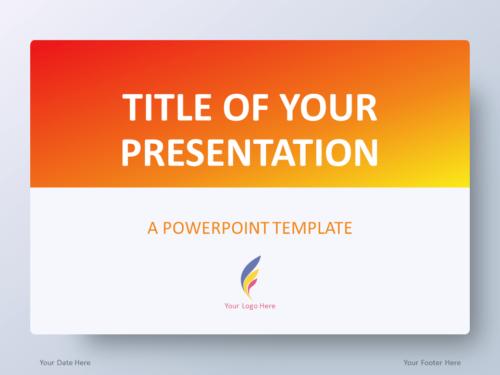 Free Gradient Orange PowerPoint Template