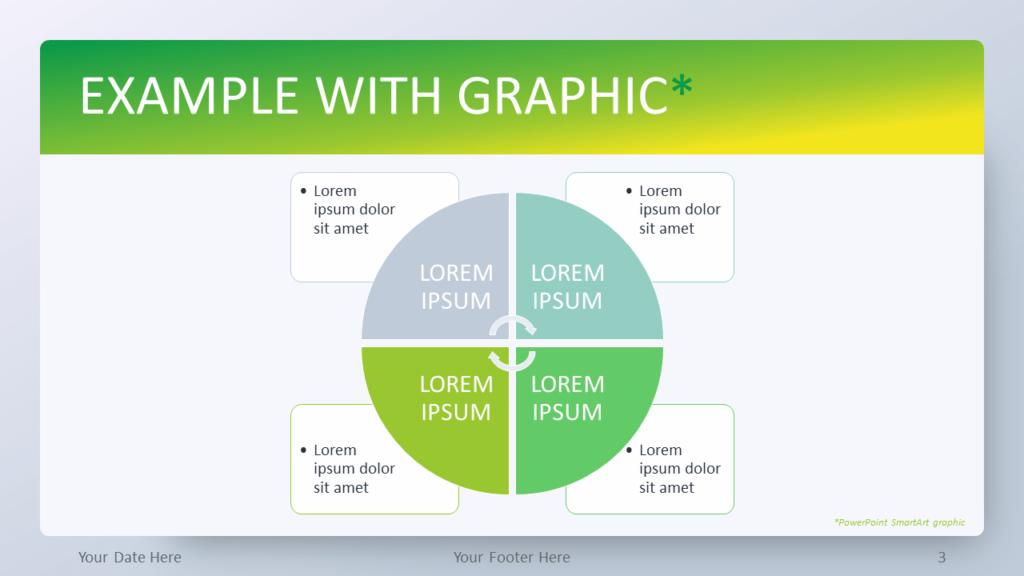 Free Green Gradient PowerPoint Template - SmartArt Graphic