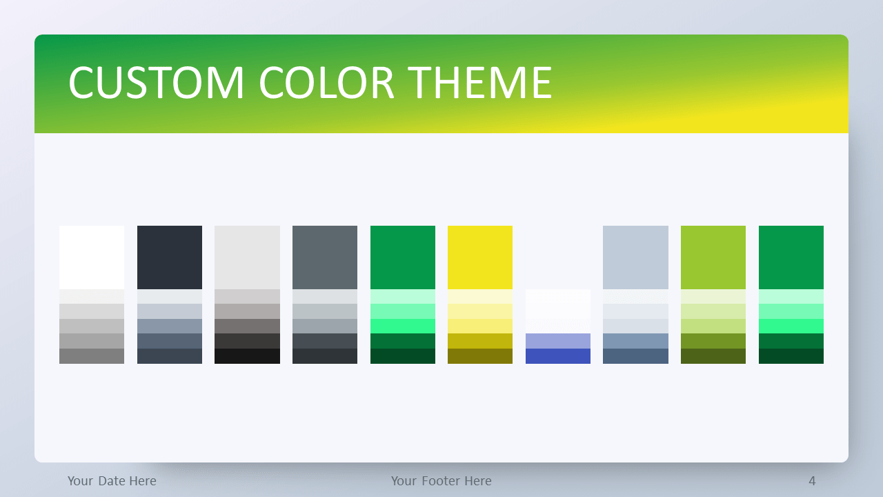 Free Green Gradient PowerPoint Template - Custom Color Theme
