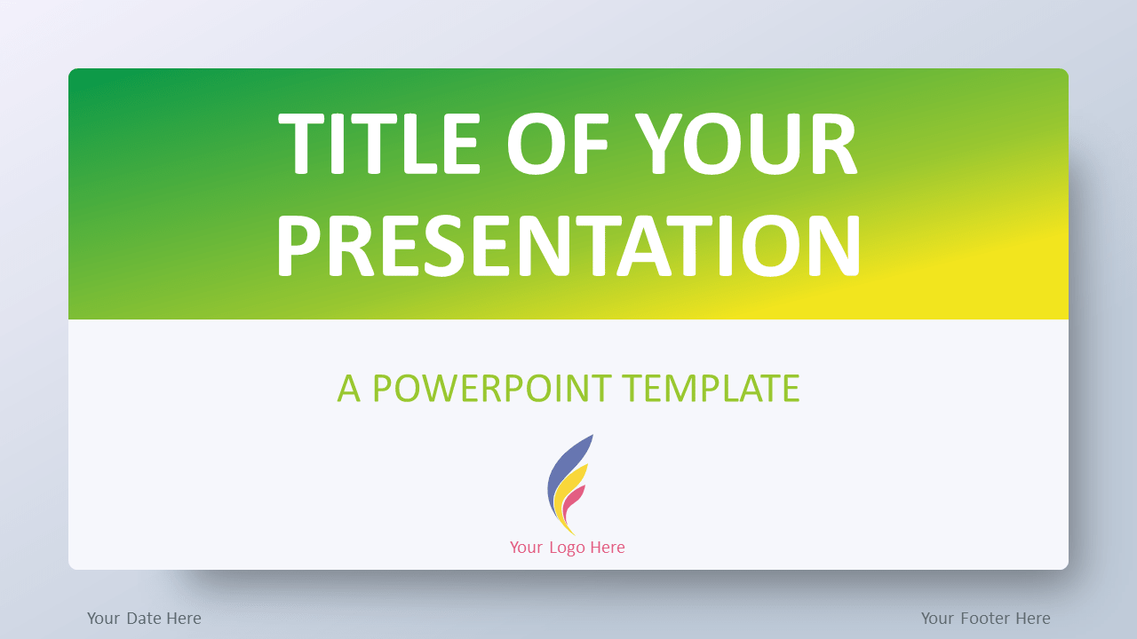 Free Green Gradient PowerPoint Template