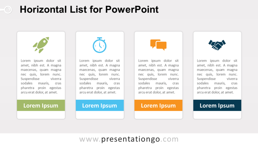 Free Horizontal List PowerPoint Template